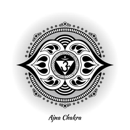 Ajna chakra design Stock Vector - 90587922