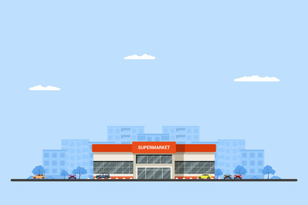 Picture of a supermarket building