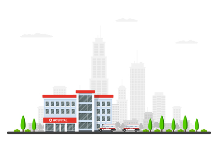 Picture of hospital building vector illustration
