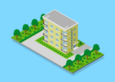 Isometric appartment house