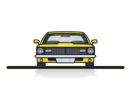 Car Fronts view illustration. Illustration