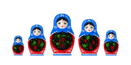 Russian dolls illustration 向量圖像
