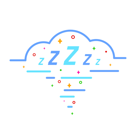 Sleep comic bubble zzz.  Sleeping bubble icon design