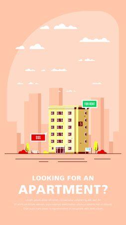 Real Estate Concept Banner. Stock Vector illustration