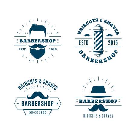 Barbershop simple minimalist logo design on white background