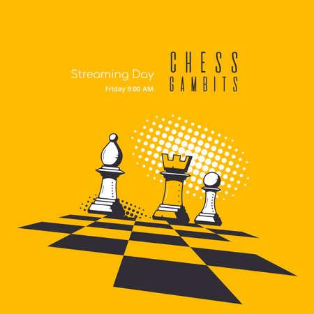 Modern Trendy Banner Template for Chess Streaming