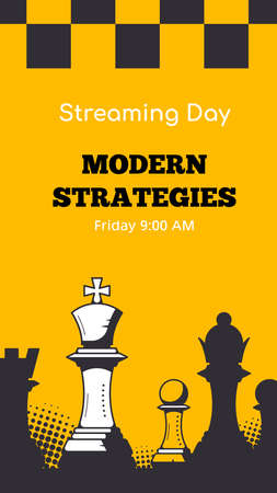 Modern Trendy Story Template for Chess Streaming