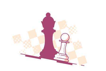 Chess Pawn Droping Shadow of a Queen