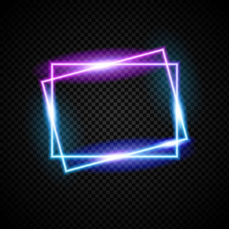 Glowing neon vector frame with light effect Illustration