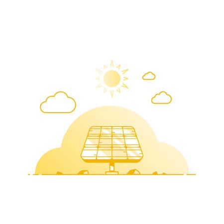 Solar panel on white background, vector illustration