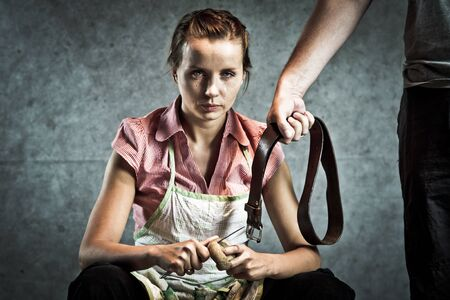 Because soup was too salty, domestic abuse concept Stock Photo - 9339190