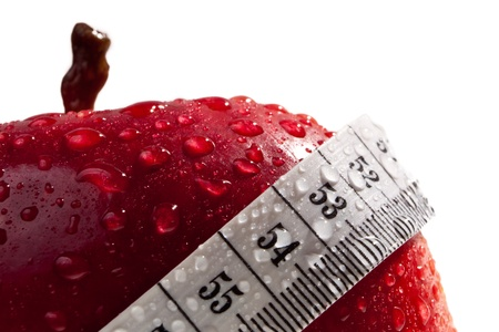 Red apple as concept of healthy diet