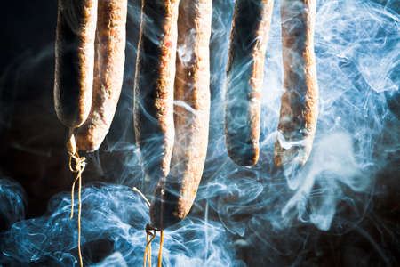 preservatives: Smoked homemade sausage in foresters lodge