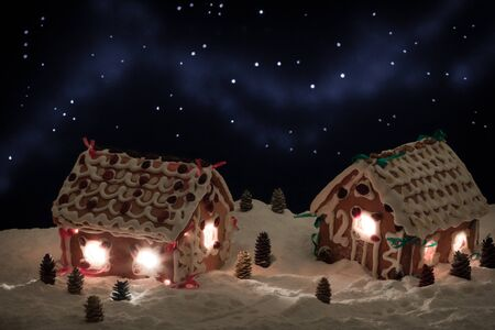 Christmas eve in the honey-cacke village Stock Photo - 9339821