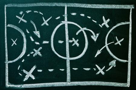 Soccer formation tactics on a blackboard Stock Photo - 9430838