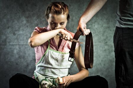 Because soup was too salty, domestic abuse concept Stock Photo - 9430826