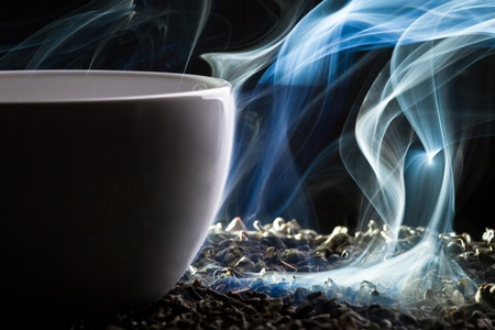 Blue smoke and roasted tea Stock Photo - 10907028