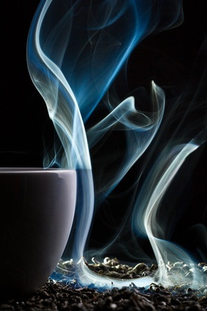 Dry tea with blue smoke Stock Photo - 10907018