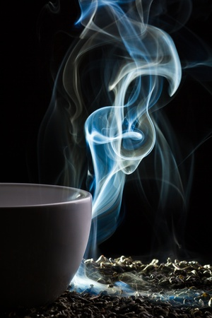 Smell of good tea from a cup Stock Photo - 10907023