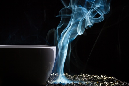 White smoke and roasted tea Stock Photo - 10907020