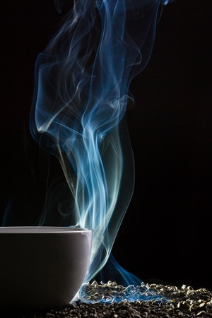 Tea, smoke and grain Stock Photo - 10907024