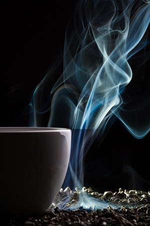 Cup of tea with blue smoke Stock Photo - 10907016