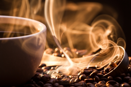 smell: Strange golden smoke taking away from coffee seeds