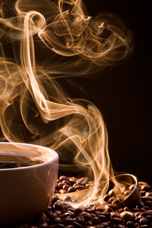 attar: Smell of good cofee from a cup Stock Photo