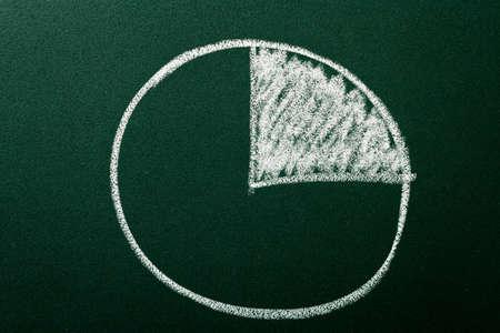 Círculo gráfico que muestra el valor porcentual Foto de archivo - 11429574