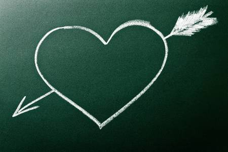 Heart and arrow as concept of Love At First Sight Stock Photo - 11429589