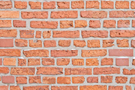 Old wall with red brick background Stock Photo