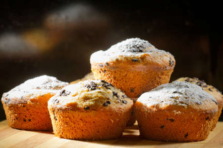 caster: Some creamy muffins with caster sugar
