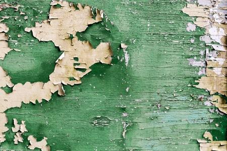peeling paint: Old tavola verde con vernice scrostata Archivio Fotografico