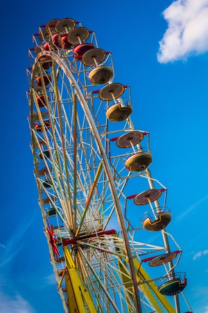 Ferris Wheel in summer photo