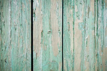 Old fence with peeling paint Stock Photo