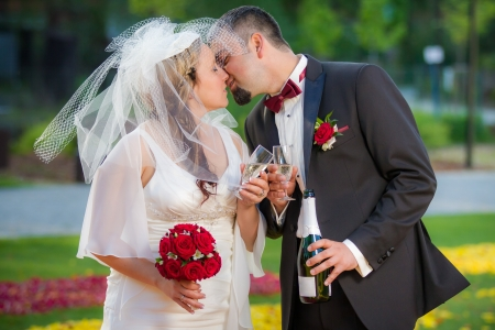 Young couple in love Celebration in garden Stock Photo - 14119493