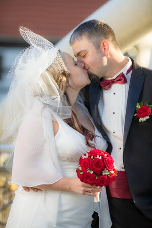 Becoming a young couple after the wedding ceremony Stock Photo - 14119484