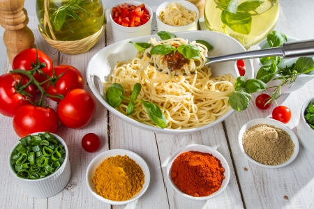 Prepare pasta for dinner Stock Photo - 14119327