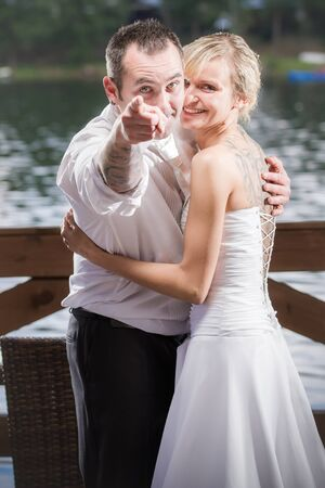 The groom points to you Stock Photo - 14442990