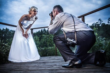 Just Married in wedding session Stock Photo - 14443002