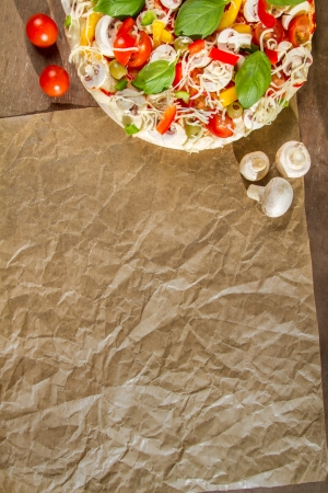 Close-up of the menu background for pizzerias No. 1 photo