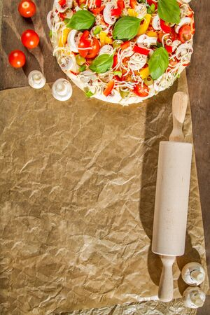 Close-up of the menu background for pizzerias No. 2 photo