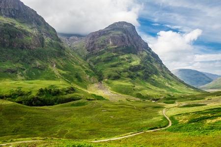 Green hills in the Scottish highlands photo