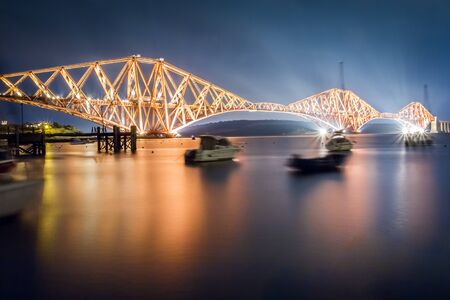 The Forth Road Bridge by night photo