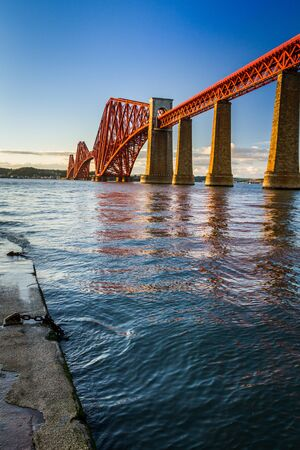 The Forth Road Bridge at sunset photo