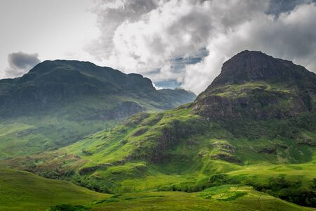typically scottish: Mountain view in Scotland in the summer Stock Photo
