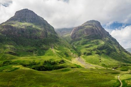 글렌 코에 스코틀랜드에있는 마운틴 뷰 스톡 콘텐츠