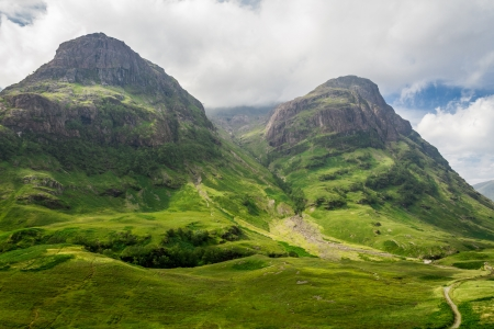 the valleys: Mountain view in Scotland in the Glencoe
