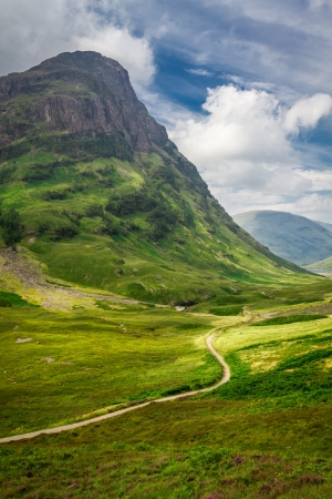 Footpath in Scotland highlands