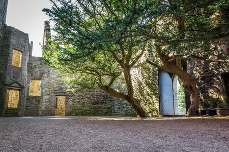 Entrance to the courtyard of a stone castle Stock Photo - 15157068